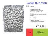 Jasmijn Thee Parels, 250 gr, najaar 2020_