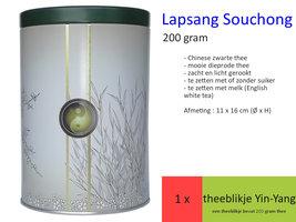 Lapsang Souchong, najaar 2019 theeblikje Yin-Yang 200 gr
