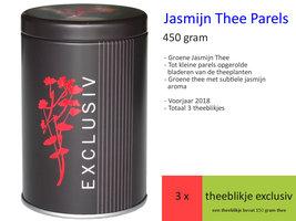 Jasmijn Thee Parels, voorjaar 2018 theeblikje Exclusiv 450 gr