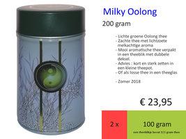 Milky Oolong, zomer 2017 theeblikje Teagarden Double Lid 200 gr