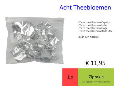 Acht theebloemen